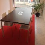 Mesa reunião retangular com vidro centro KuatrU 122