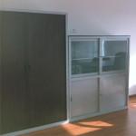167_Montagem armário persiana e armário misto vidro com aro e portas correr chapa