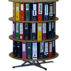 Estante circular para pastas de arquivo