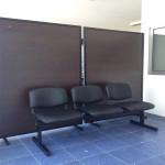 392_Montagem cadeira bateria 3 lugares semi pele preta