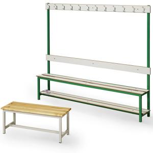 Banco vestiário com cabides para balneário réguas fenólico ou madeira de pinho