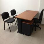 Secretária reta 1600x800x740mm Linha Horizonte_435