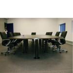 Mesa oval 6000x1500mm sala de reuniões 50