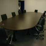 Mesa oval 6000x1500mm sala de reuniões 53