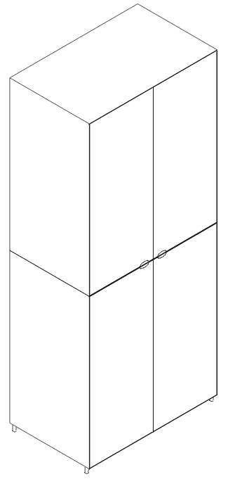 Armário 4 portas batentes lacado ou madeira