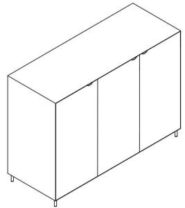Armário Portas Batentes lacado ou madeira