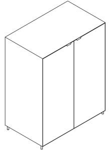 Armário porta batentes lacado ou madeira