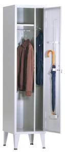 Armário vestiário simples limpos e sujos c.divisória vertical com 1900(A)400(L)500(P) Pés 200mm