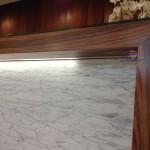 Balcão receção madeira 577