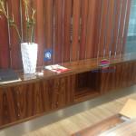 Balcão receção madeira 578