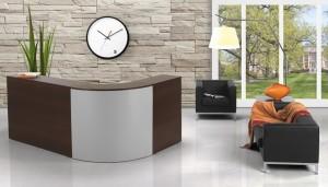 Balcao Rececao curvo mobiliario de escritorio