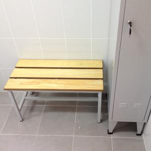 Banco corrido ripas madeira pinho balneário ref.620