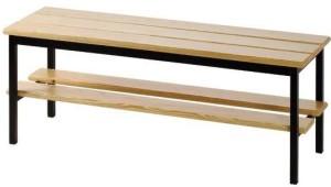 Banco balneário com sapateira em madeira ref.621