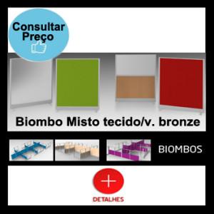 Biombo misto tecido_vidro bronze
