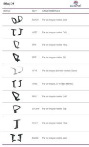 Braços Cadeiras de escritório