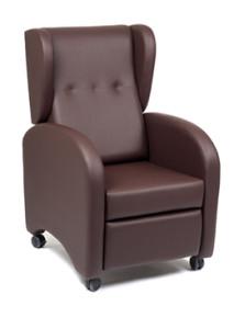Cadeirão relax reclinável com articulação manual com orelhas e rodas - Baltexport