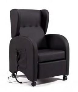 Cadeirão relax reclinável elétrico confortável com orelhas e rodas - Baltexport