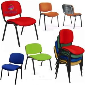 Cadeira 4 pés estrutura preto assento e costa estofado e de alta resistencia empilhavel