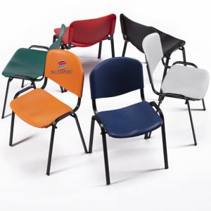 Cadeira 4 pés estrutura preto assento e costas em polipropileno de alta resistência