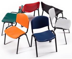 Cadeira assento e costa em polipropileno