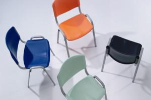 Cadeira de escritório visitante encosto e assento em polipropileno