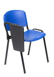 Cadeira de escritório visitante encosto e assento em polipropileno azul com palmatoria