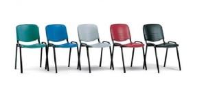 Cadeira de escritório visitante encosto e assento em polipropileno cores