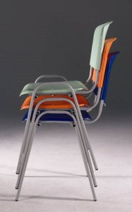 Cadeira de escritório visitante encosto e assento em polipropileno empilhavel
