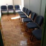 Cadeira fixa 4 pés tecido receção477
