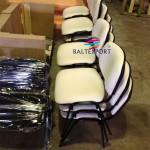 Cadeira fixa 4 pés visitante tecido branco_508