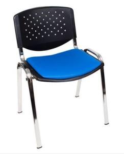 Cadeira fixa 4 pés polipropileno Cromada para escritório
