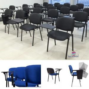 Cadeira formação estrutura preta assento e costa estofado com palmatória