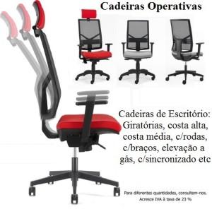 Cadeiras de Escritório Operativas