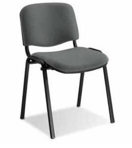 Cadeira fixa 4 pés secretária operativa visitante forrada