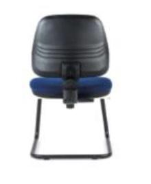 Cadeira Clássica, costa média, estrutura de patim em ferro pintado BCL.400
