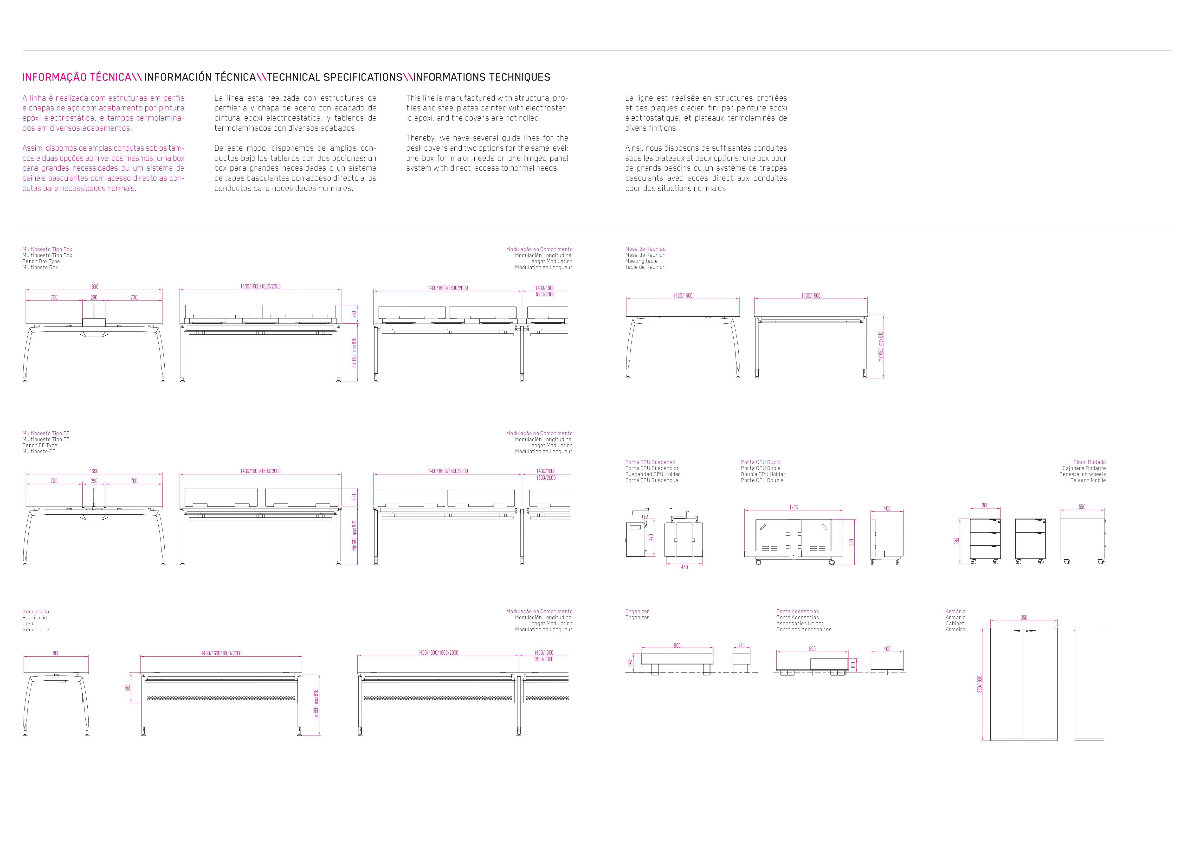 Descrição técnica Linha web2