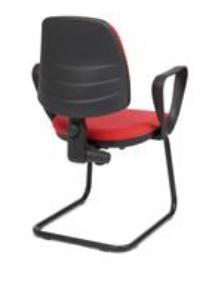 Cadeira Duny, costa baixa, estrutura de patim em ferro pintado BDU.400