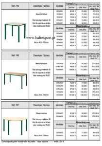 Mesas Mobiliário Escolar e Formação