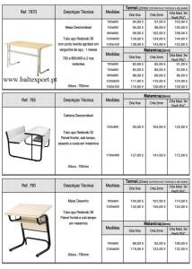 Carteiras escolar Mobiliário Escolar e Formação