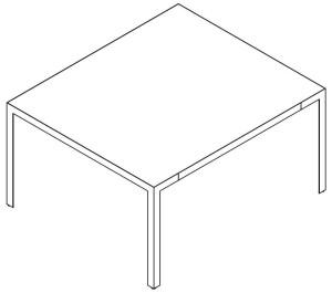 Mesa de reunião quadrada