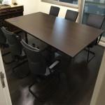 Mesa reunião melamina wengué485