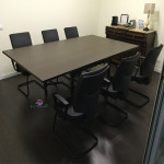 Mesa reunião melamina wengué486