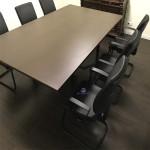 Mesa reunião melamina wengué487