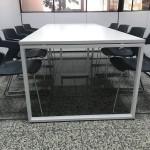 Mesa reunião reta melamina branco 592