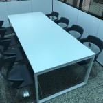 Mesa reunião reta melamina branco 593