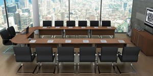 Mesa reunião retanular grande varios modulos retos