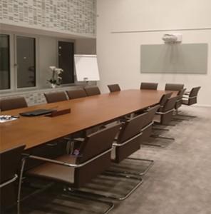 Mesa reuniao reta madeira cerejeira mesa de reuniões para sala escritório