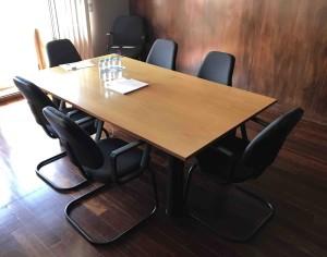 Mesa reuniao reta melamina faia mesa de reuniões para escritório