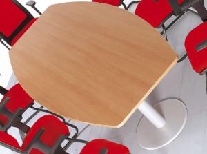 Mesa reuniao semi oval melamina pereira