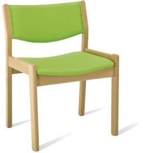 Mobiliário Geriatria Cadeira com assento e encosto estofados cadeira com desenho ergonómico.